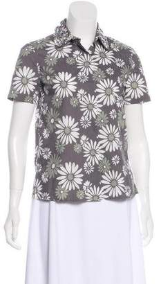 Marc Jacobs Floral Print Short Sleeve Top