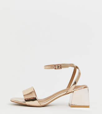 Honeywell Asos Design ASOS DESIGN Wide Fit block heeled sandals
