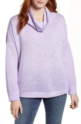 Caslon Burnout Back Pleat Sweatshirt