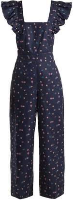 Rebecca Taylor Farren floral-print cotton-linen jumpsuit