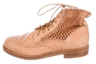 Rag & Bone Leather Laser Cut Ankle Boots w/ Tags