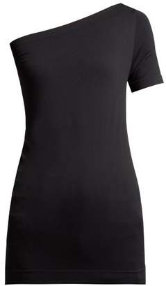 Helmut Lang One Shoulder Jersey Top - Womens - Black