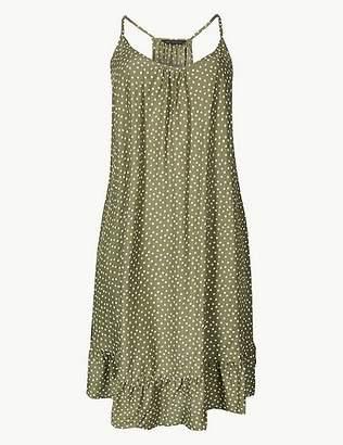 Marks and Spencer Spot Print Flippy Slip Beach Dress