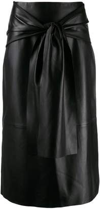 Joseph midi skirt with knot detail
