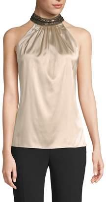 Ramy Brook Women's Galina Embellished Halter Top