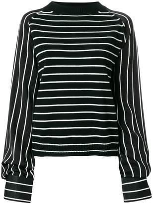 Haider Ackermann long sleeved stripe jumper