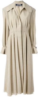 pleated long coat