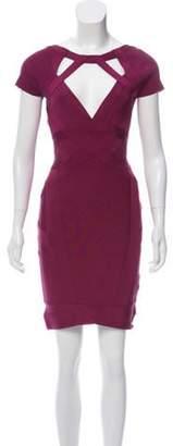 Herve Leger Sarai Bandage Dress Purple Sarai Bandage Dress