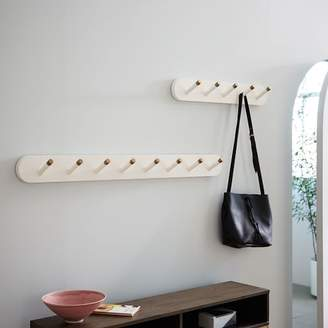 west elm Mid-Century Hook Rack - White