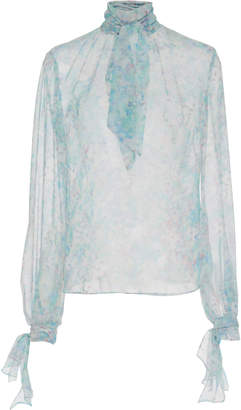 Luisa Beccaria Elegant Neck Tie Blouse