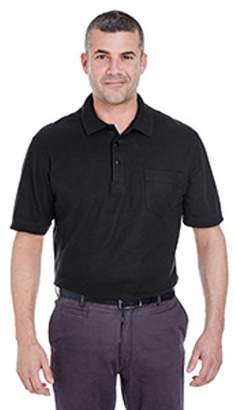 ULTRACLUB UltraClub Adult Whisper Pique Polo with Pocket 8544