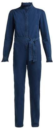 A.P.C. Antoinette Cotton Jumpsuit - Womens - Blue