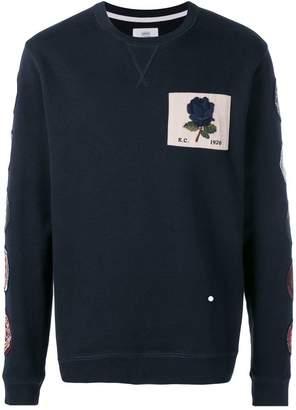 Kent & Curwen patched rose sweatshirt