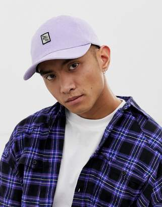 Globe Sidekicker cap with front patch in lilac
