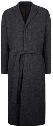 LUX Grey Melange Wool Rich Coat $250 thestylecure.com