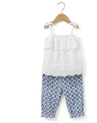 La Redoute Collections Vest Top and Trousers Outfit, 1 Month-3 Years
