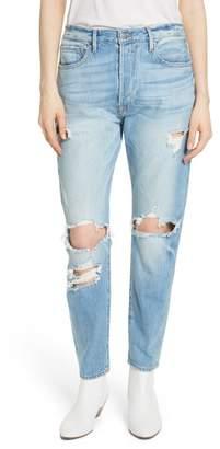 Frame Le Original Ripped High Waist Skinny Jeans (Pomdale)