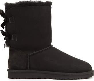 UGG Ladies Black Bailey Bow Sheepskin Boots