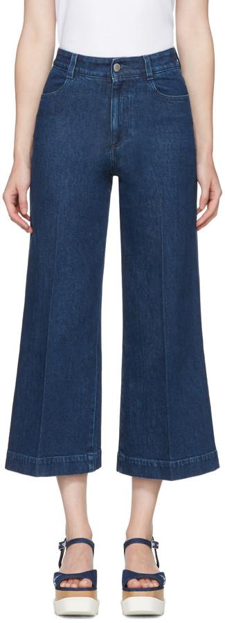 Stella McCartneyStella McCartney Blue Wide-Leg Jeans