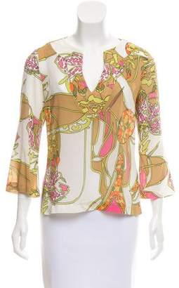 Trina Turk Printed Silk Top