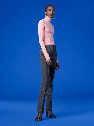 Diane von Furstenberg Long-Sleeve Turtleneck Fitted Pull Over