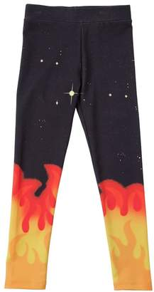 Stella McCartney Flames Print Interlock Cotton Leggings