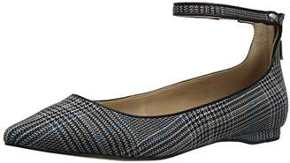 The Fix Women's Evie Military-Inspired Ankle Strap Pointed-Toe Flat