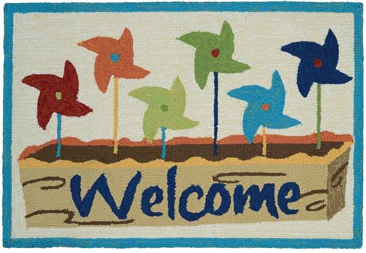CouristanCouristan Covington Accents ''Welcome'' Pinwheels Indoor Outdoor Rug - 2' x 3'
