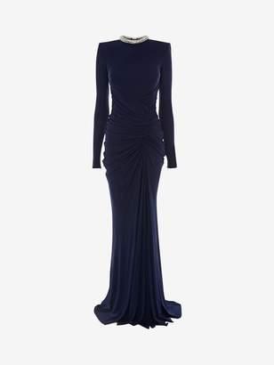 Alexander McQueen Crystal Rope Evening Dress