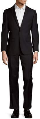 DKNY Men's Wool Buttoned Suit