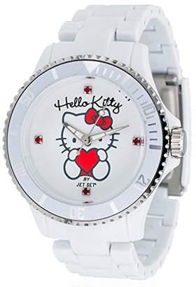 Hello Kitty jhk 1004-18-Obi-Girls'Watch Analogue Quartz White Plastic Strap White Dial