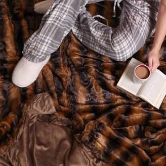 Dibor Luxurious Large Faux Fur Throw