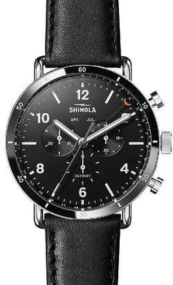 Shinola Canfield Black Sport Chronograph, 45mm