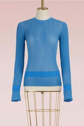 Marco De Vincenzo Crew neck pleated top