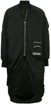 Julius zipped longline bomber jacket