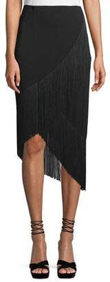 Nanette Lepore Rarified Jersey Skirt w/ Fringe