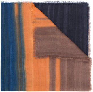Ermenegildo Zegna colour blocked scarf