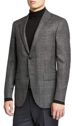 Ermenegildo Zegna Men's Prince of Wales Check Cashmere Sport Jacket