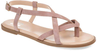 Journee Collection Womens Syra Ankle Strap Flat Sandals