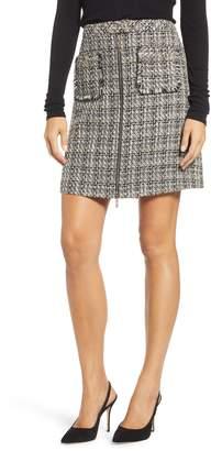 Karl Lagerfeld PARIS Tweed Miniskirt