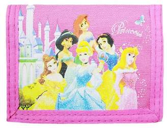 Disney Trifold Wallet Princess - 6 Princess Pink New Gift Toys Licensed 27611