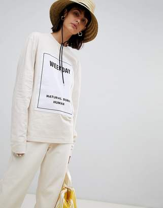 Weekday Limited Collection Boyfriend Long Sleeve Top