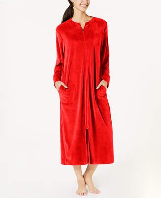 Miss Elaine Velvet Fleece Long Zip Robe