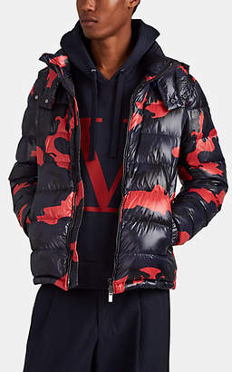 Valentino Men's Camouflage Down-Quilted Puffer Jacket - Blue