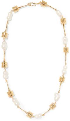 ATTICO + Alican Icoz Torsado Gold-plated Pearl Necklace