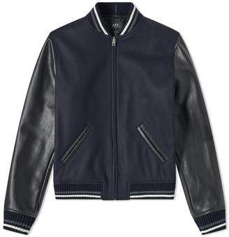 A.P.C. Copper Varsity Jacket