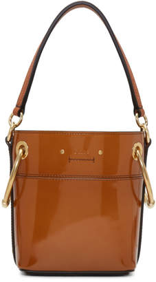Chloé Brown Patent Mini Roy Bucket Bag