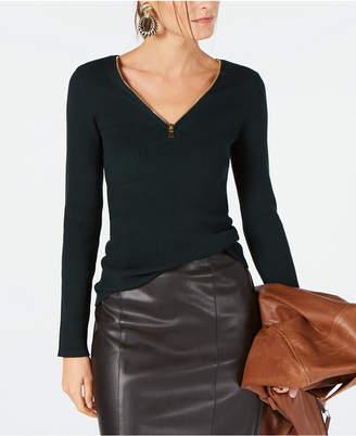 INC International Concepts I.n.c. Zipper Embellished Sweater, Created for Macy's