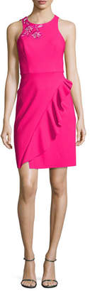 Notte by Marchesa Sleeveless Embroidered Ponte Cocktail Dress, Pink $595 thestylecure.com