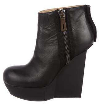 Acne Studios Round-Toe Wedge Ankle Boots